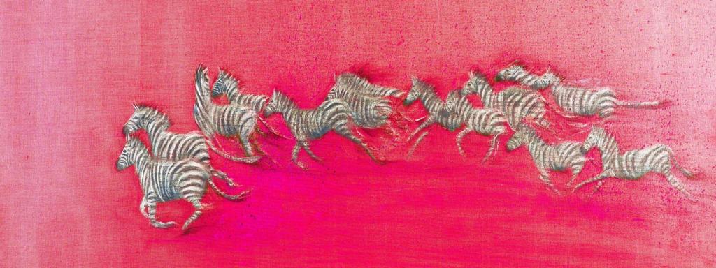 Zebra on Pink
